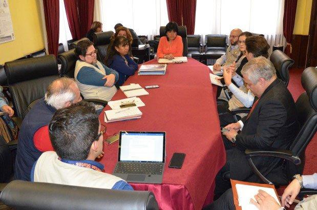 La Sala Plena del TSE recibe la visita de la misión de observadores de la OEA para las Elecciones Judiciales de este 3 de diciembre