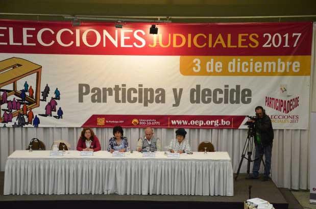 Elecciones Judiciales: el TSE destaca la vocación democrática de la ciudadanía que acudió masivamente a las urnas
