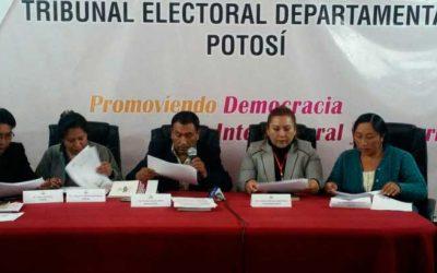 Potosí: impulsores del revocatorio para el alcalde Cervantes no presentaron libros y el TED archiva el proceso