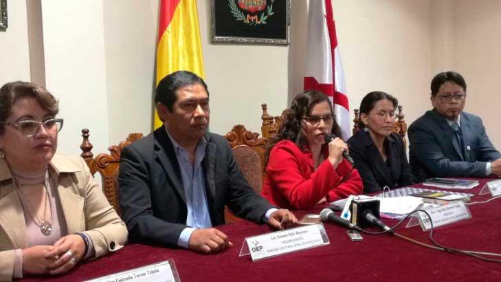 El TED Chuquisaca archiva el proceso de revocatoria de mandato para el Alcalde y concejales de Sucre