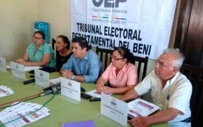 Beni: archivan los revocatorios para alcaldes de Magdalena y San Ignacio de Moxos por errores en el llenado de libros