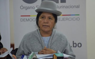 Presidenta del TSE desmiente versiones de prensa sobre concejala Choque