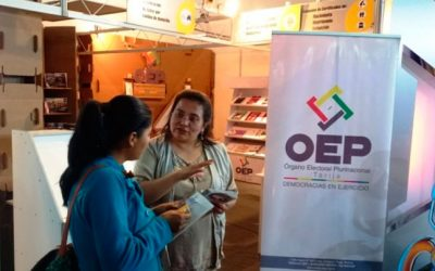 El OEP participa en la Fexpo Tarija con servicios registrales e información sobre democracia intercultural
