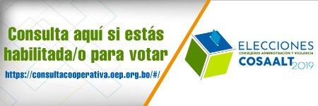 Consulta Habilitados Elección COSAALT Tarija