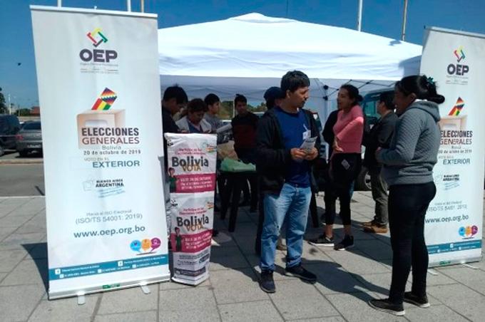 Elecciones Generales: residentes bolivianos en Buenos Aires emitirán su voto en 49 recintos electorales