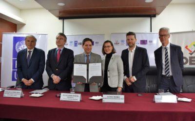 En busca de un proceso electoral transparente, TSE y PNUD firman convenio