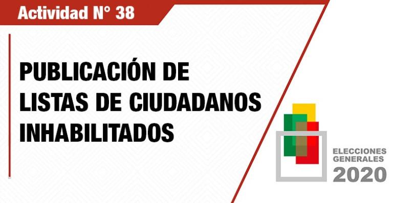 El TSE publica las listas de los ciudadanos inhabilitados en el Padrón Electoral