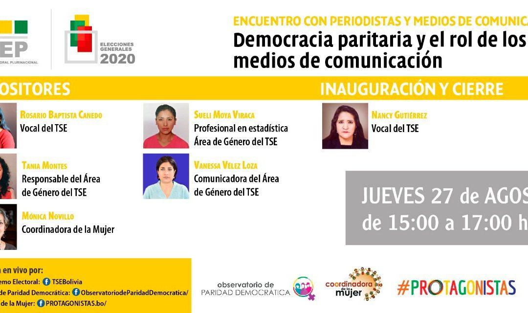 TSE promueve eventos sobre democracia partidaria interna y paridad de género rumbo a las elecciones generales