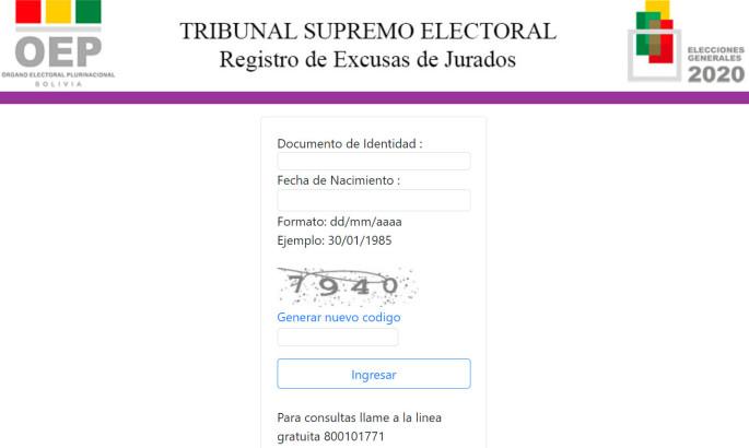 TSE habilita plataforma virtual para ciudadanos imposibilitados de ser jurados electorales