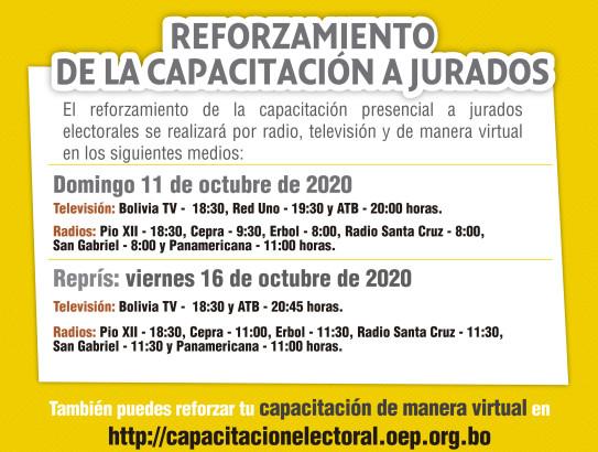 El sorteo de jurados electorales se realiza el 18 de septiembre, a un mes de la jornada de sufragio