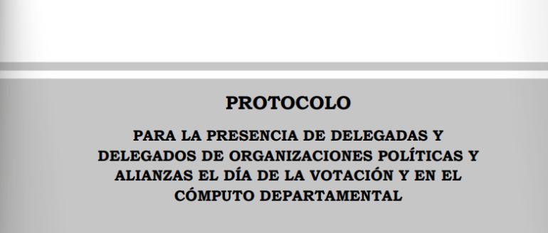 TSE activa protocolo para el registro y participación de delegados políticos para la jornada de votación