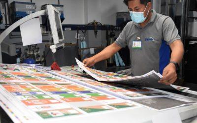 Tres empresas imprimen las papeletas de sufragio para el 7 de marzo