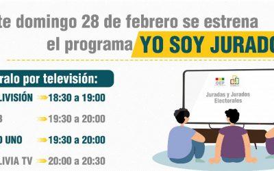 """Desde el domingo 4 de abril se difunde por radio y televisión el programa """"Yo soy jurado"""""""