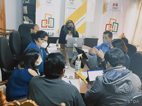 TED Chuquisaca y PNUD establecen una agenda de trabajo interinstitucional para el fortalecimiento de la democracia intercultural y paritaria