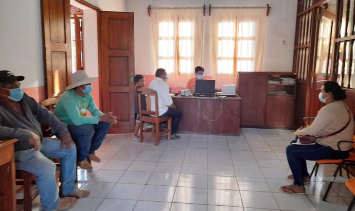 Santa Cruz: pobladores de Concepción se benefician con saneamiento de partidas de nacimiento, matrimonio y defunción