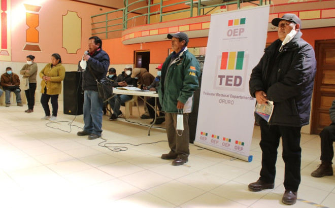 El TED Oruro supervisará elecciones de la Cooperativa de Electrificación Rural Paria R.