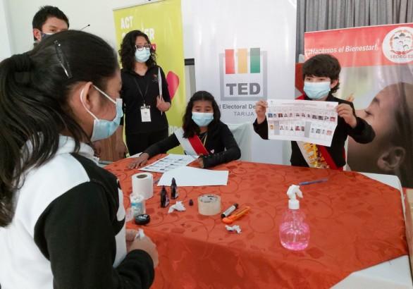 El TED Tarija participa en la elección del Comité Departamental Niña, Niño y Adolescente