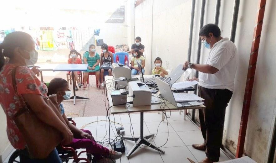 Personas con discapacidad en Santa Cruz y Samaipata se benefician con inscripciones de nacimientos