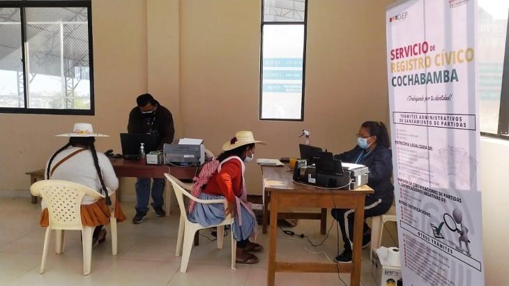 Durante 11 días de campaña, el Serecí Cochabamba emitió 800 certificados de nacimiento gratuitos