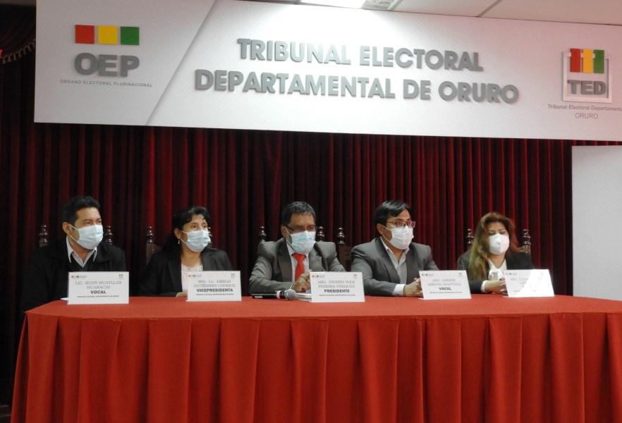 El TED Oruro llama a consolidar las democracias y presenta el plan de actividades de octubre