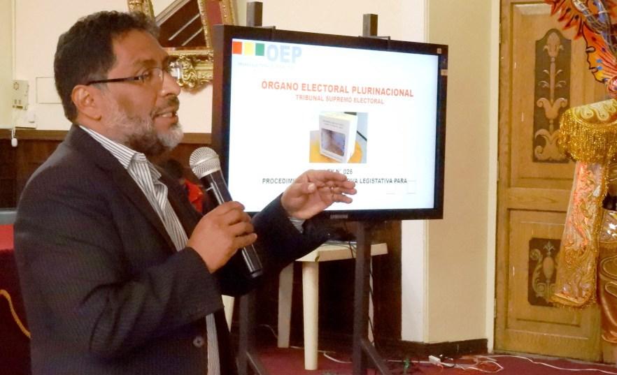 Oruro: socializan Ley de Delimitación de Unidades Territoriales y el procedimiento para el referendo de delimitación entre municipios