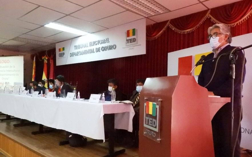 Diálogo departamental muestra que en Oruro resta avanzar en el fortalecimiento de la democracia comunitaria
